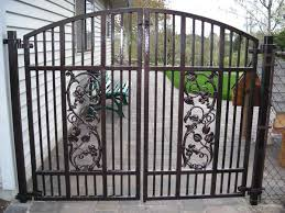 ornamental iron gates outdoor fence