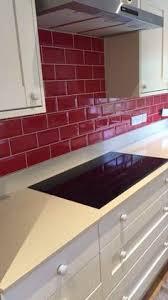 red kitchen backsplash red tile backsplash adds zing to this