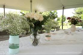 Bridal Shower Table Decorations by Vintage Bridal Shower Christinas Adventures