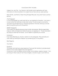 resume letter subject job application cover letter via email cover