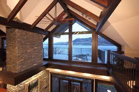 Decorative Beams Custom Built Lake Home