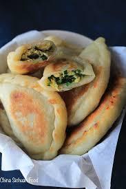 cuisine pancake chive pocket pancake china sichuan food