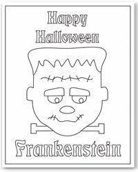 frankenstein mask free printable coloring pages crafts