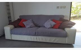 canapé neuf canapé cuir blanc état neuf annonce meubles et décoration parc