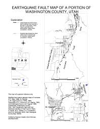 Utah Cities Map by Earthquake Fault Information U0026 County Fault Maps U2013 Utah Geological