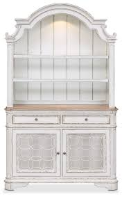 marcelle buffet and hutch vintage white value city furniture