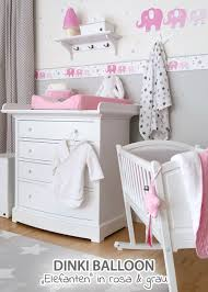 babyzimmer rosa grau dinki balloon babyzimmer elefanten rosa grau bei fantasyroom