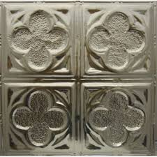 Metal Ceiling Tiles by 134 Tin Metal Ceiling Tile Four Clover Leaf