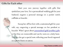 wedding gift message personalized wedding gift ideas