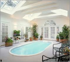 indoor pool with sky ceiling architecture home swimming pool
