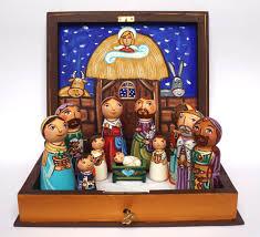 nativity set ornaments wooden nativity
