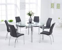 melbourne 145cm round glass extending dining table with cavello
