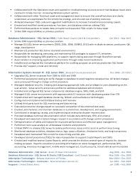 sql dba resume examples eliolera com