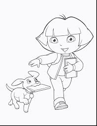 Halloween Coloring Pages Online by Remarkable Dora Printable Coloring Pages With Dora Coloring Page