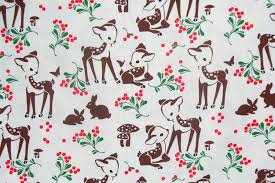 fawn memories michael miller christmas fabric vintage style