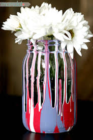 drip painting mason jars diy momdot