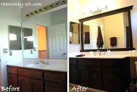 framing bathroom wall mirror wooden framed mirrors for bathroom trendy idea wood framed mirrors