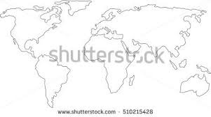 world map image drawing world continents map vector free vector stock