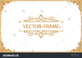 gold photo frame corner thailand line stock vector 499624909 gold photo frame with corner thailand line floral for picture vector design decoration pattern style