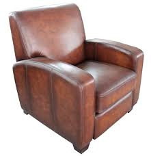 Brown Leather Recliner Chair Brown Full Grain Leather Upholstered Armchair With Recliner As