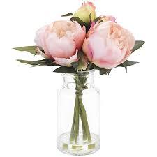 peony arrangement sainsbury s home faux floral pink peony arrangement sainsbury s