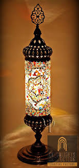 Turkish Lighting Fixtures Teal Blue Glass Mosaic Jar Table L In Designs 6