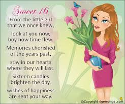 sweet 16 from the little 16th birthday cards