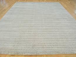 Bamboo Silk Area Rugs 9 U0027 X 12 U0027 Tone On Tone Hand Loomed Modern Beige Art Silk Oriental