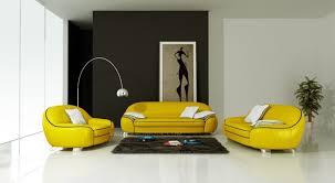 canapé jaune moutarde ensemble de canapé en cuir italien 2 places fautuil modèle cotton