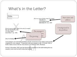 stage 2 esl formal letter of complaint what is a letter of