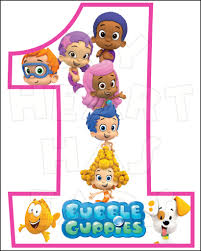 bubble guppies 1st birthday instant download digital clip art