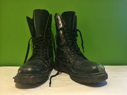 s boots calf size vintage 90 s leather doc martens combat boots mid calf grunge