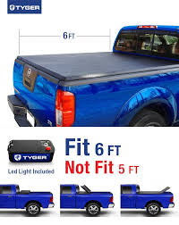 suzuki box truck tyger tri fold pickup tonneau cover fits 05 15 nissan frontier 6