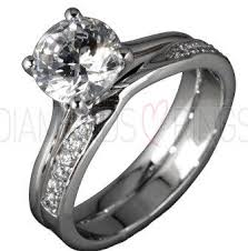 wedding ring sets uk tulip bridal ring set diamondsandrings co uk