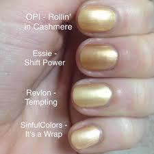 pale gold shimmer nail polish comparison