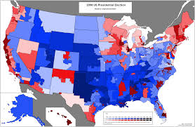 2004 Presidential Election Map by Kerry Bush Results For New Cds