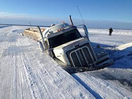 heavy fuel truck crashes through ice road days after government