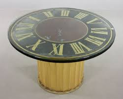 lot detail decorative clock face dining table