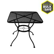 Mesh Patio Table Shop Patio Tables At Lowes Black Metal Table Mesh Gorgeous