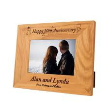 20th wedding anniversary gift ideas personalised 20th wedding anniversary gift idea special 20th