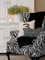 home reading room designing ideas with armchair with zebra motif