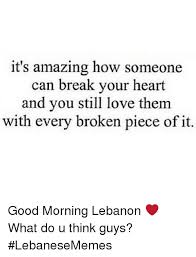 Broken Heart Meme - it s amazing how someone can break your heart and you still love