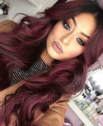 Light Burgundy Hair Long Curled Burgundy Hair Uploaded By Sunflowers1141