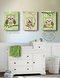Nursery Owl Decor Owl Owl Decor For Children Owls Nursery Set Of