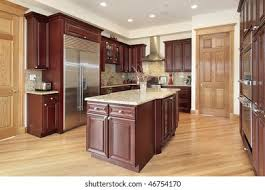 modern kitchen with cherry wood cabinets cabinets cherry kitchen modern images stock photos