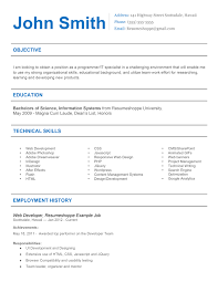 Css Resume The John Resume 2 Simple But Effective Resume