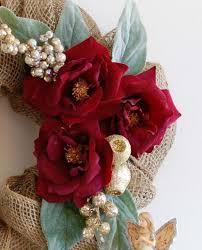 burlap christmas wreath tutorial handmade paper flowers by maria