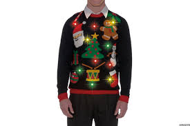 ugly christmas sweaters that light up and sing 16 hilarious ugly holiday sweaters you can actually buy on amazon