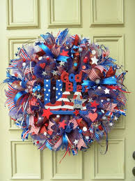 Fourth Of July Door Decorations 288 Best 4th Of July Patriotic Wreaths Images On Pinterest