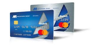 debit cards rewards debit card earn back macatawa bank